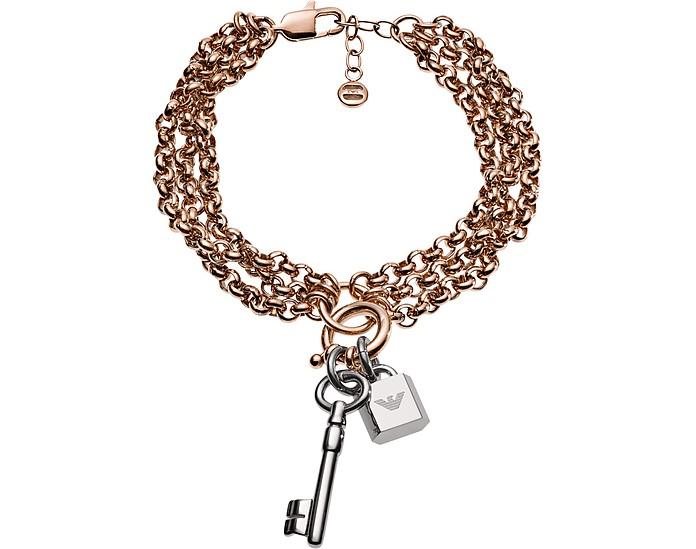 Multi Strand Pendant Women's Bracelet - Emporio Armani