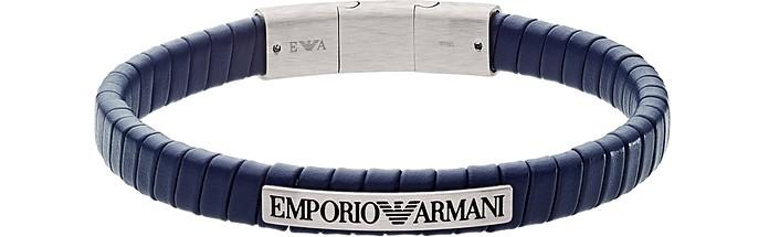 Blue Soft Leather Bracelet - Emporio Armani / エンポリオ アルマーニ