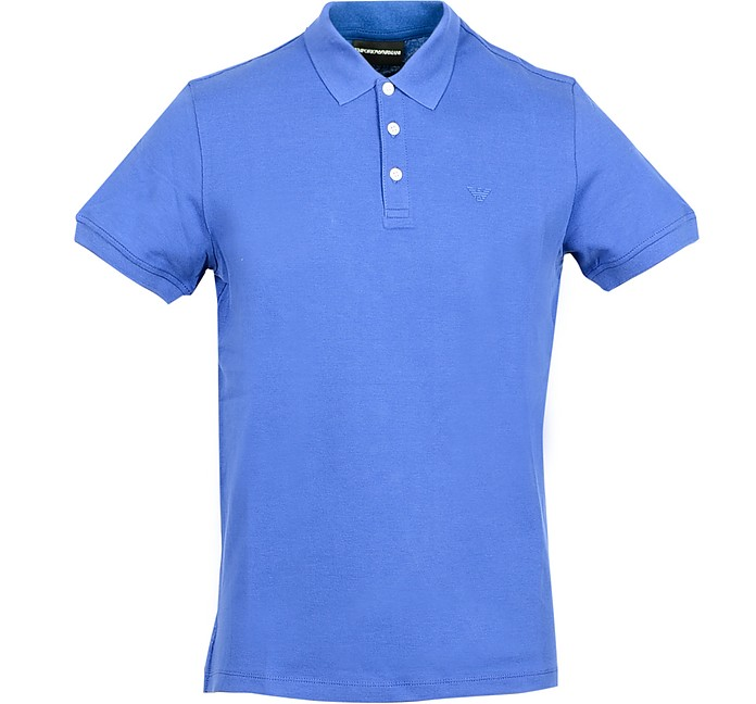 Bluette Cotton Men's Polo Shirt - Emporio Armani