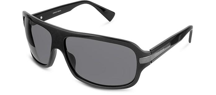 3692735d811 Giorgio Armani black dark grey Signature Metal Strip Rectangular ...