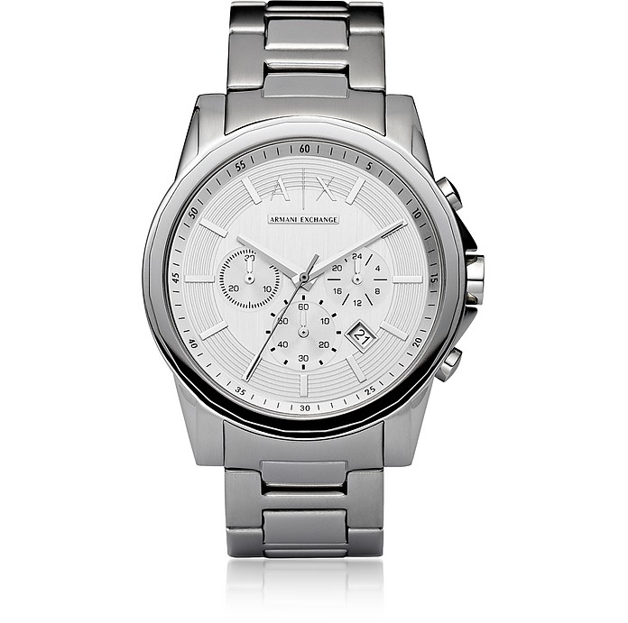Outerbanks Silver Tone Men's Watch - Armani Exchange