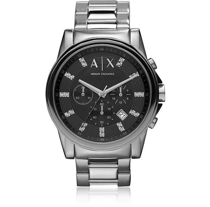 Outerbanks Black Dial with Crystals Men's Watch - Armani Exchange