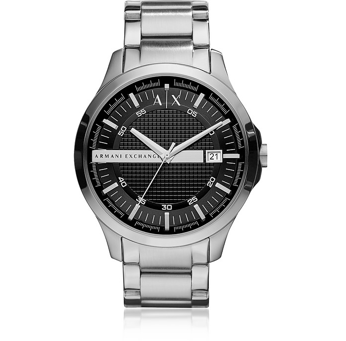 Hampton Silver Tone Men's Watch - Armani Exchange