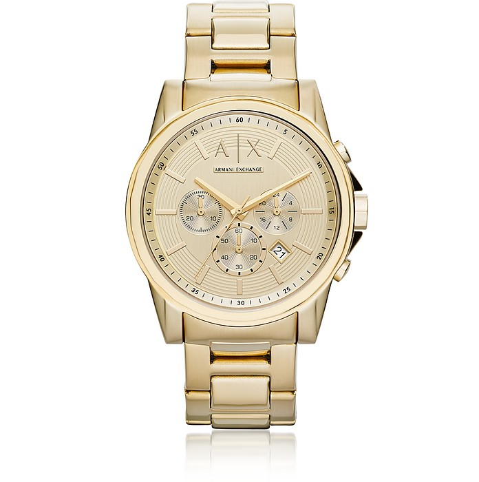 Outerbanks Gold Tone Men's Watch - Armani Exchange