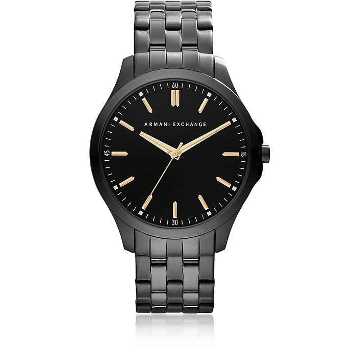 Hampton Black Tone Stainless Steel Men's Watch - Armani Exchange