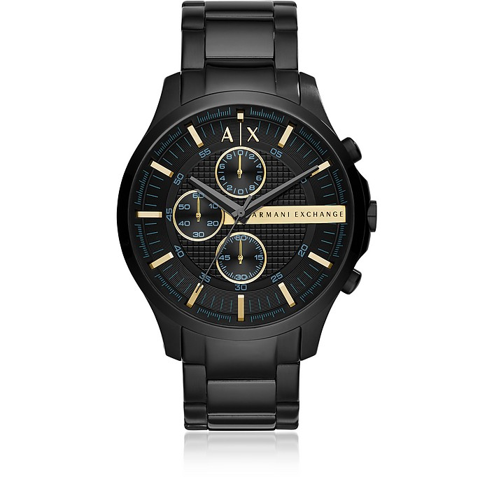 Hampton Black Chronograph Men's Watch - Armani Exchange