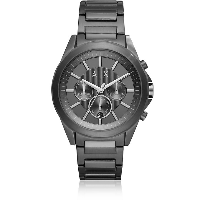 Drexler Black Dial and Black Tone Stainless Steel Men's Chronograph Watch - Armani Exchange