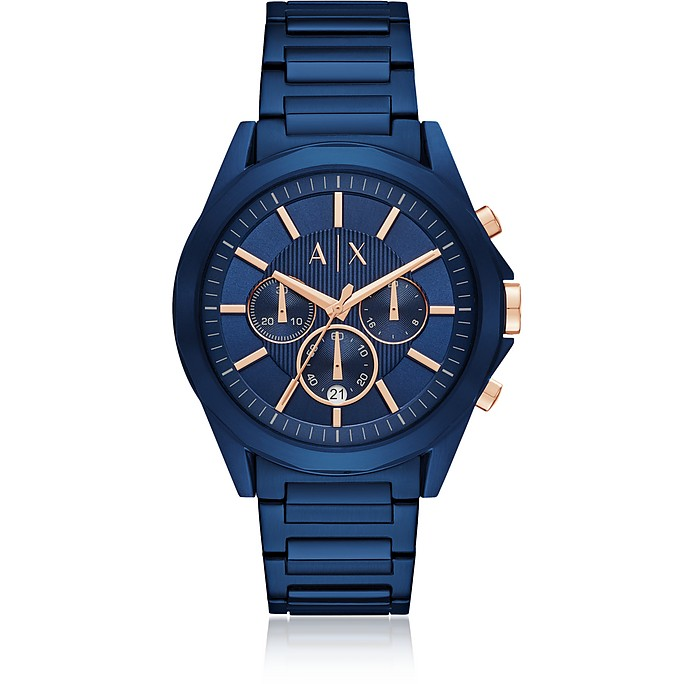 Drexler Blue Dial and Blue Tone Stainless Steel Men's Chronograph Men's Watch - Armani Exchange