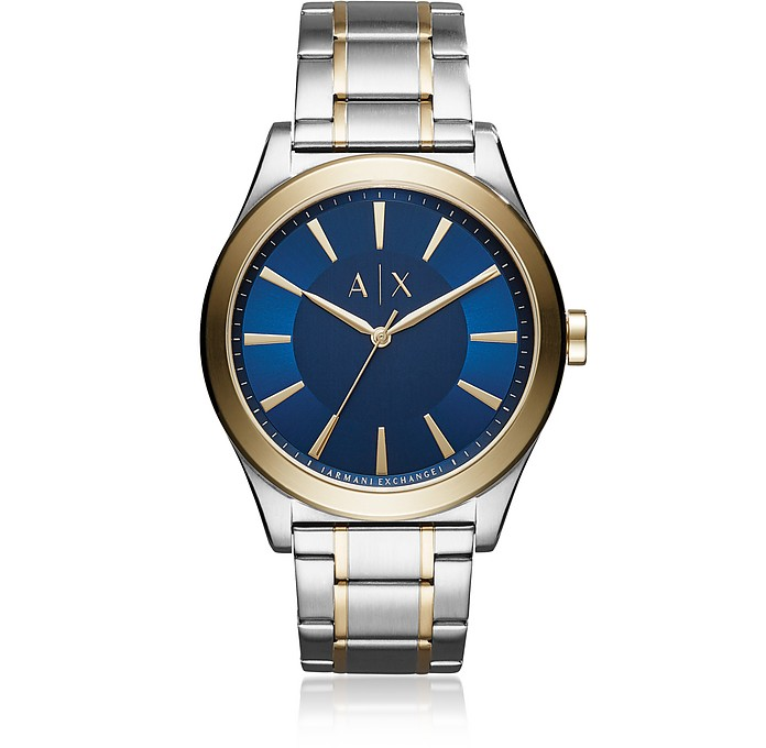 Nico Blue Dial with Two Tone Stainless Steel - Armani Exchange