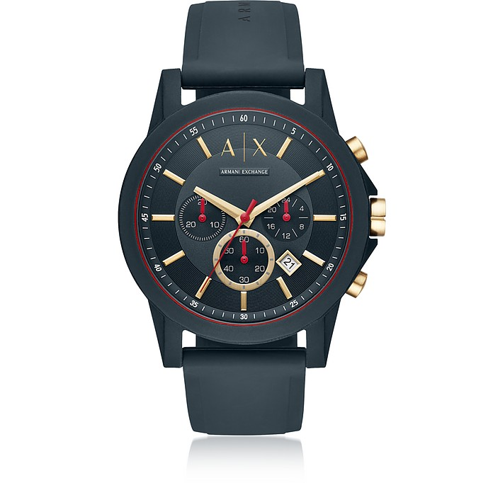 AIX Blue Silicone Men's Chronograph Watch - Armani Exchange