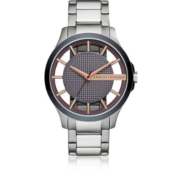 Hampton Blue Dial and Silver Tone Men's Watch - Armani Exchange