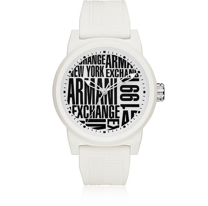 Atlc White Silicone Men's Watch - Armani Exchange