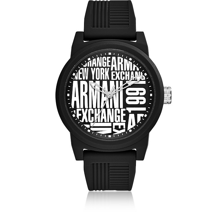 Atlc Black Silicone Men's Watch - Armani Exchange