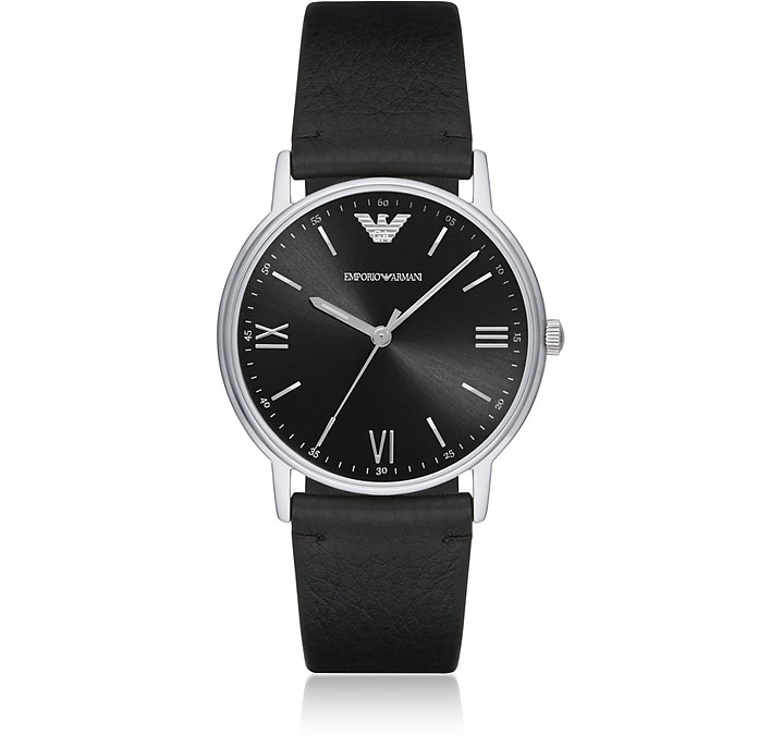Kappa Stainless Steel Leather Men's Watch - Emporio Armani