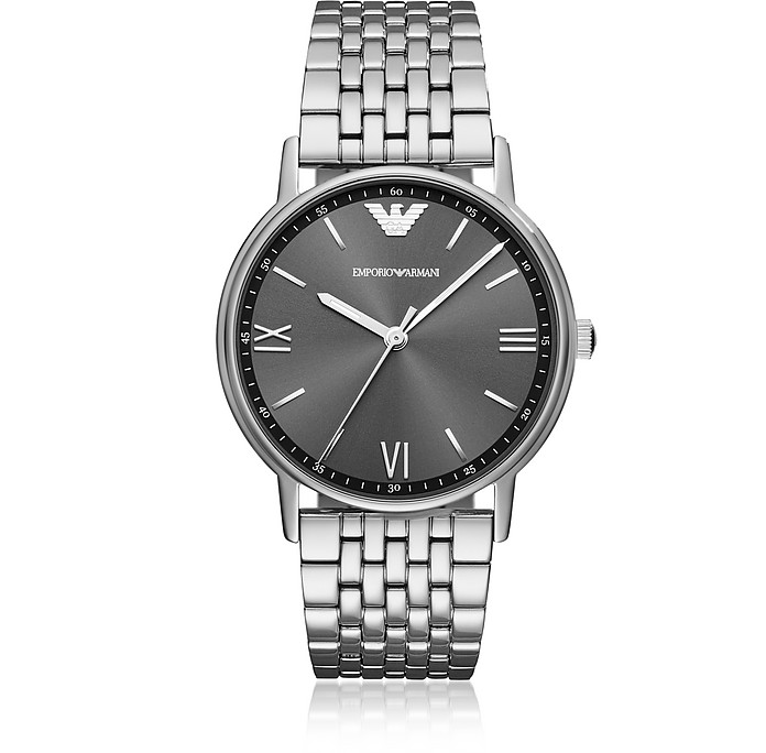 Kappa Stainless Steel Men's Watch  - Emporio Armani
