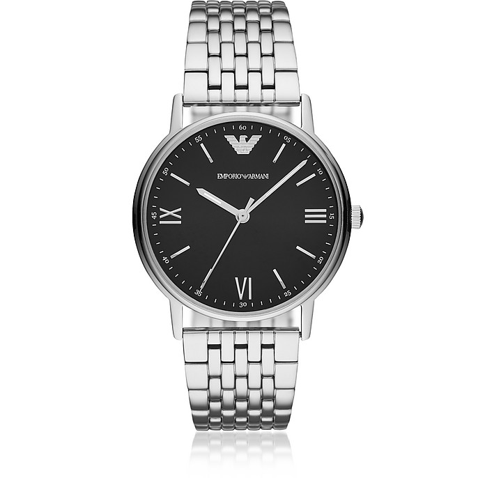 Kappa Stainless Steel Link Men's Watch - Emporio Armani