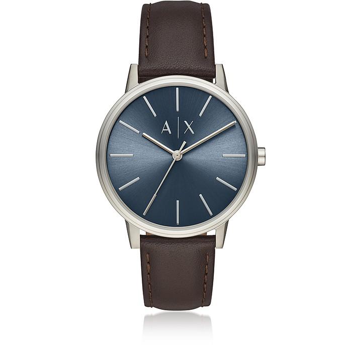Cayde Minimalist Brown Leather Men's Watch - Emporio Armani