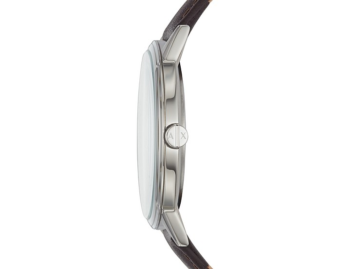 9ef2d8445f5c1 Cayde Minimalist Brown Leather Men's Watch - Emporio Armani. Sold Out