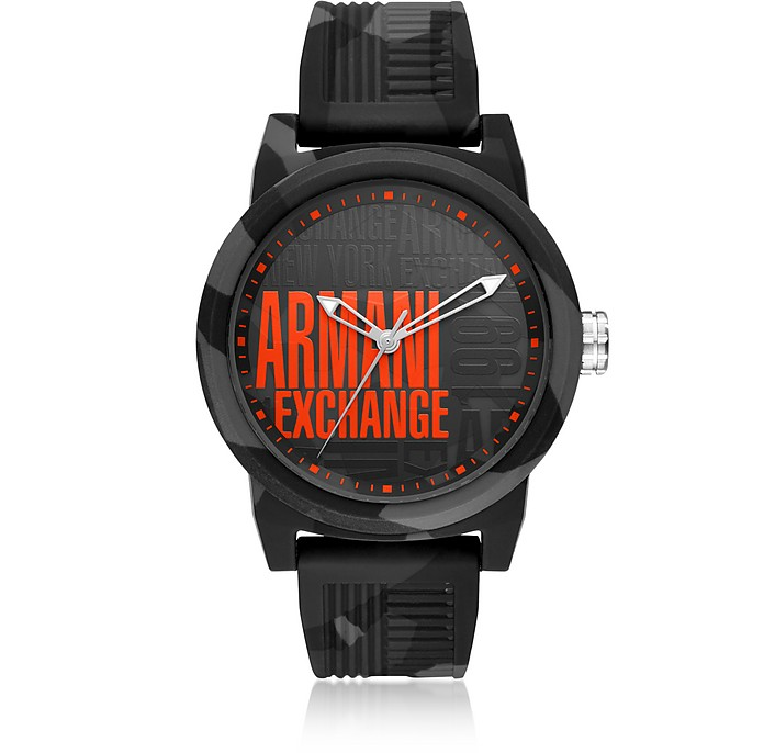 Atlc Logo Face Silicone Men's Watch - Emporio Armani