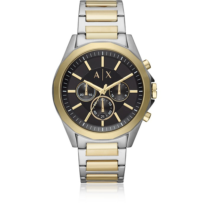 Drexler Two Tone  Men's Chronograph Watch - Emporio Armani