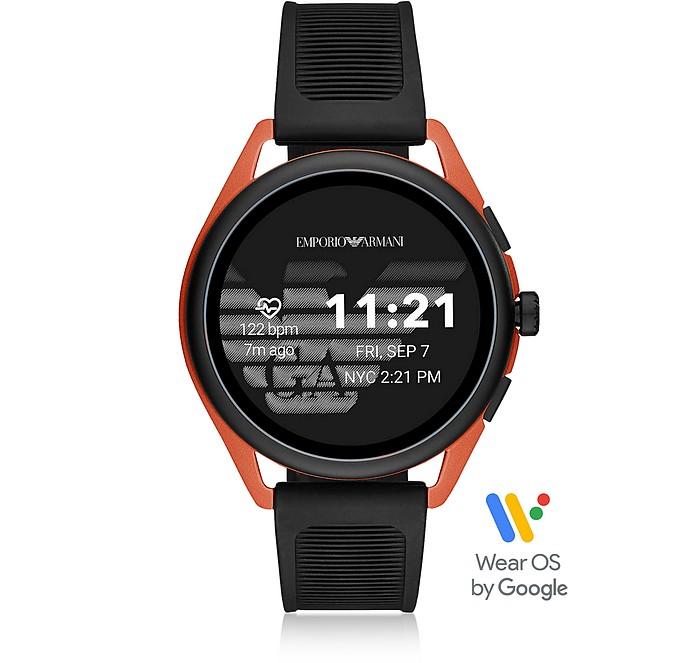 黑色和橙色Armani触摸屏手表 - Emporio Armani 安普里奥·阿玛尼