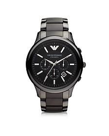 Black Ceramic & Stainless Steel Men's Watch - Emporio Armani