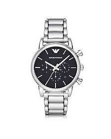 Silver Tone Stainless Steel Men's Watch - Emporio Armani