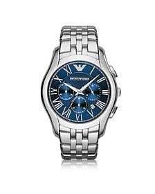 New Valente Silver Tone Stainless Steel Men's Watch - Emporio Armani