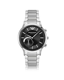 Connected Satin Stainless Steel Hybrid Men's Smartwatch - Emporio Armani