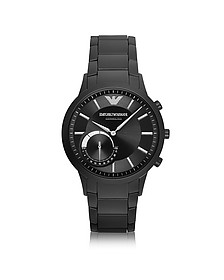 Connected Black PVD Stainless Steel Hibrid Men's Smartwatch - Emporio Armani