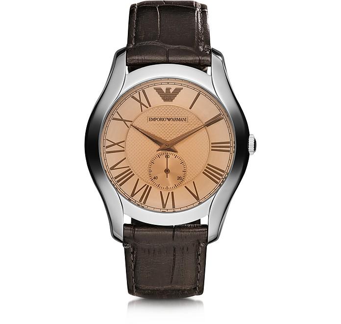Classic Armbanduhr für Herren mit Krokoprägung - Emporio Armani