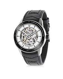 Corsa Stainless Steel Automatic Skeleton Men's Watch - Maserati
