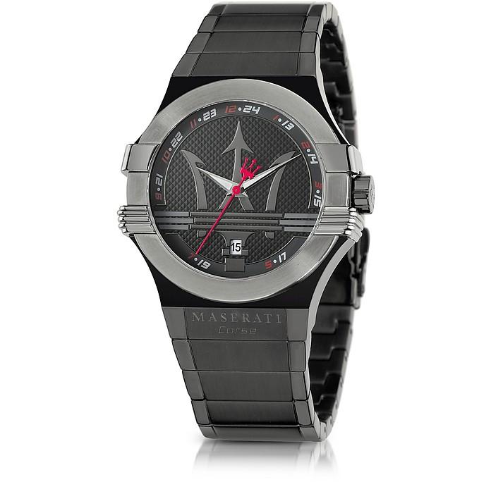 Potenza Black PVD Stainless Steel Unisex Watch - Maserati