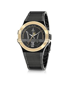 Potenza Black and Gold PVD Stainless Steel Unisex Watch