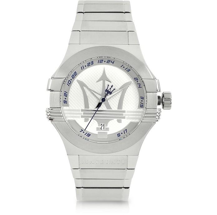 Potenza 3H Armbanduhr aus Edelstahl in Silber - Maserati