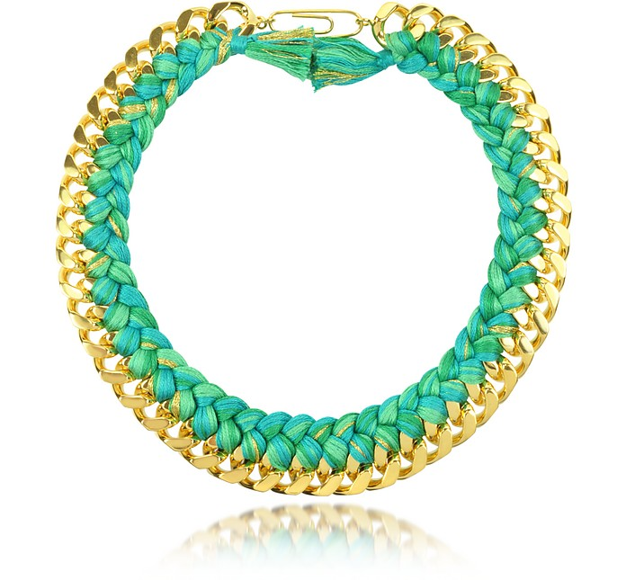 Do Brasil Gold and Cotton Necklace - Aurelie Bidermann