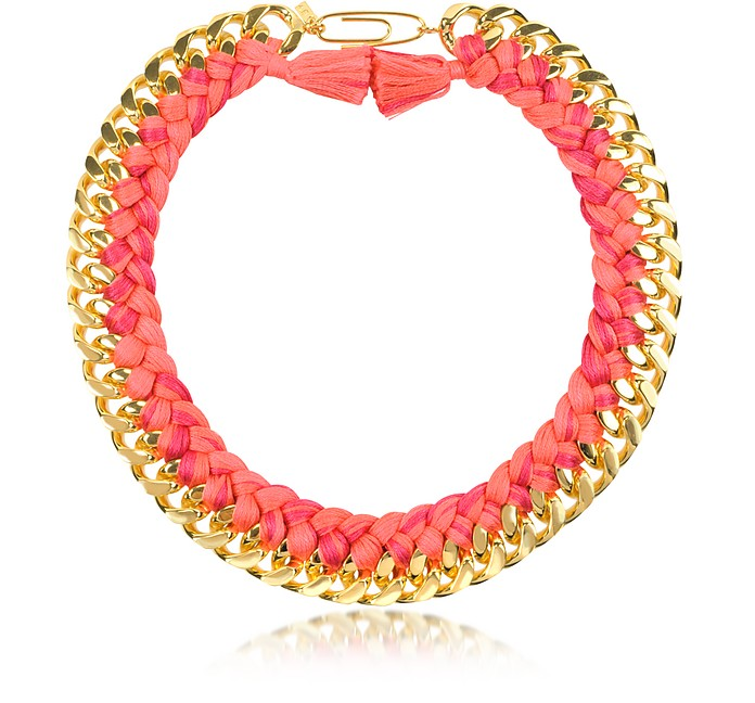 Do Brasil Halskette aus Gold und Baumwolle - Aurelie Bidermann