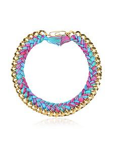 Do Brasil Gold and Cotton Necklace - Aurelie Bidermann