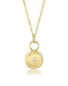 Telemaque 18K Yellow Gold and Diamond Bell Charm - Aurelie Bidermann
