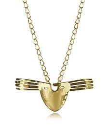 18K gold-plated Brass Melina Long Necklace - Aurelie Bidermann