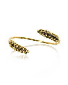 Two Cobs Wheat Gold Plated Bangle