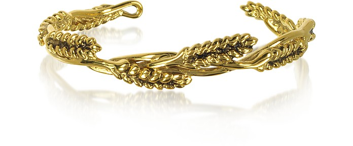 WHEAT 18K GOLD-PLATED BANGLE