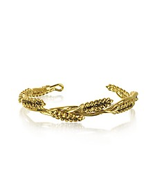 Wheat 18K Gold-Plated Bangle - Aurelie Bidermann
