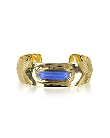 Peggy 18K Gold-Plated Bangle w/Lapis Lazuli Stone  - Aurelie Bidermann