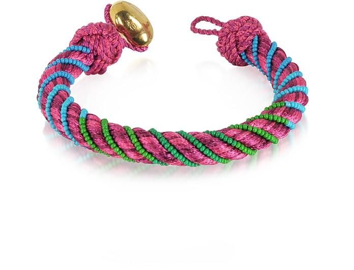 Maya Peony Bracelet w/18K Gold-Plated Bead - Aurelie Bidermann