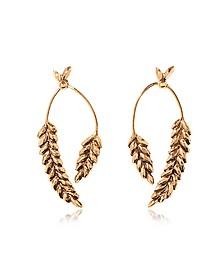 Wheat Gold Plated Earrings - Aurelie Bidermann