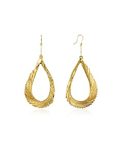Gold Swan Feather Earrings - Aurelie Bidermann