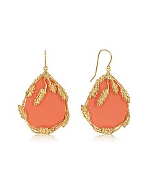 Coral Françoise Earrings - Aurelie Bidermann