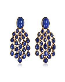 Cherokee 18K Gold-Plated Drop Earrings w/Lapis Lazuli Stones - Aurelie Bidermann