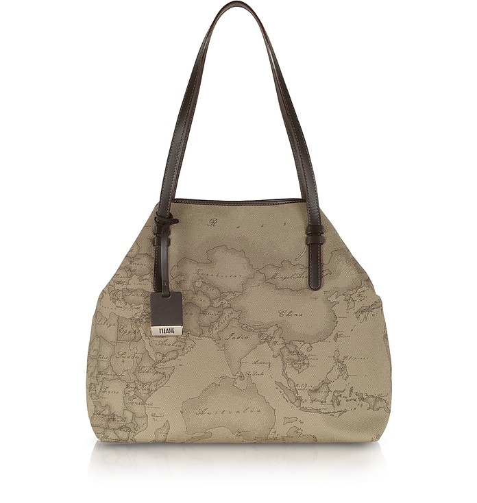 ALVIERO MARTINI 1A CLASSE GEO PRINTED LARGE 'NEW BASIC' SHOULDER BAG